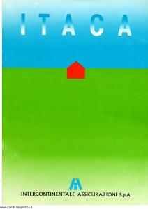 Intercontinentale - Itaca Polizza Globale Per La Dimora Abituale - Modello 08.533-9 Edizione 12-1988 [SCAN] [16P]