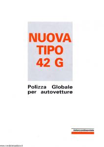 Intercontinentale - Nuova Tipo 42 G Polizza Globale Autovetture - Modello 11.019-0 Edizione 03-1992 [SCAN] [21P]