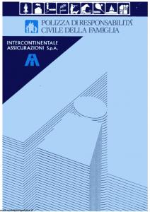 Intercontinentale - Polizza Di Responsabilita' Civile Della Famiglia - Modello 09.214-8 Edizione 08-1988 [SCAN] [4P]