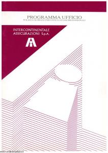 Intercontinentale - Programma Ufficio Polizza Per Uffici E Studi Professionali - Modello 08.571-1 Edizione 06-1990 [SCAN] [28P]