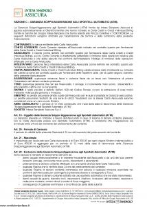 Intesa Sanpaolo Assicura - Condizioni Assicurazione Carta Credit 100070000094 - Modello nd Edizione 01-02-2016 [17P]