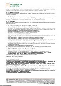 Intesa Sanpaolo Assicura - Condizioni Assicurazione Carta Debit 100070000096 - Modello nd Edizione 01-02-2016 [12P]