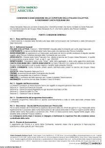 Intesa Sanpaolo Assicura - Condizioni Assicurazione Carta Fideuram Oro 100070000087 - Modello nd Edizione 01-02-2016 [15P]