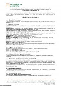 Intesa Sanpaolo Assicura - Condizioni Assicurazione Carta Pensione 100070000092 - Modello nd Edizione 01-02-2016 [13P]
