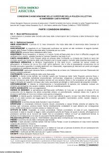 Intesa Sanpaolo Assicura - Condizioni Assicurazione Carta Prepaid 100070000091 - Modello nd Edizione 01-02-2016 [12P]