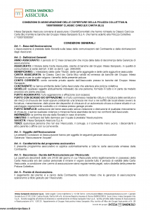 Intesa Sanpaolo Assicura - Condizioni Assicurazione Classic Card 100070000097 - Modello nd Edizione nd [11P]
