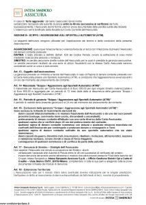 Intesa Sanpaolo Assicura - Condizioni Assicurazione Gold Card 100070000098 - Modello nd Edizione nd [12P]