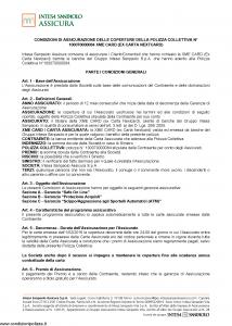 Intesa Sanpaolo Assicura - Condizioni Assicurazione Xme Card 100070000084 - Modello nd Edizione 01-02-2016 [13P]