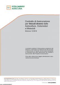 Intesa Sanpaolo Assicura - Contratto Di Assicurazione Per Veicoli Diversi - Modello isa mas01-a5 Edizione 12-2018 [44P]
