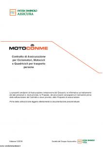 Intesa Sanpaolo Assicura - Moto Con Me - Modello 186263 Edizione 12-2018 [48P]