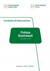 Intesa Sanpaolo Assicura - Polizza Business5 - Modello 185867 Edizione 12-2018 [47P]