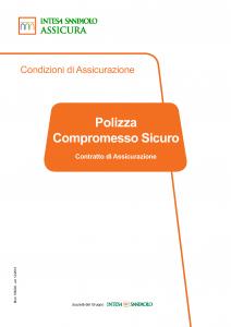 Intesa Sanpaolo Assicura - Polizza Compromesso Sicuro - Modello 186293 Edizione 12-2018 [21P]