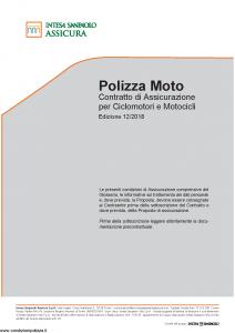 Intesa Sanpaolo Assicura - Polizza Moto - Modello isa mas02-a5 Edizione 12-2018 [40P]
