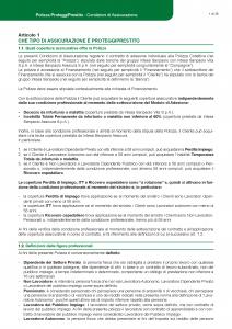 Intesa Sanpaolo Assicura - Polizza Proteggi Prestito - Modello 185904 Edizione 12-2018 [51P]