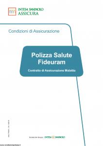 Intesa Sanpaolo Assicura - Polizza Salute Fideuram - Modello ps0001 Edizione 12-2018 [36P]
