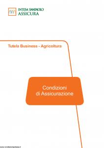 Intesa Sanpaolo Assicura - Tutela Business Agricoltura - Modello ca186305 Edizione 12-2018 [69P]