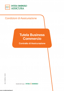 Intesa Sanpaolo Assicura - Tutela Business Commercio - Modello ca186296 Edizione 12-2018 [69P]