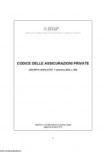 Isvap - Codice Delle Assicurazioni Private - Modello nd Edizione 01-01-2006 [272P]