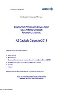 L Assicuratrice Italiana Vita - Az Capitale Garantito 2011 - Modello aiv7513 Edizione 31-05-2012 [33P]