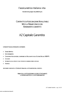 L Assicuratrice Italiana Vita - Az Capitale Garantito - Modello aiv7505 Edizione 12-11-2008 [30P]