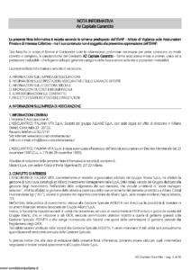 L Assicuratrice Italiana Vita - Az Capitale Garantito - Modello aiv7505 Edizione 27-03-2009 [30P]