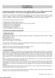 L Assicuratrice Italiana Vita - Az Capitale Garantito - Modello aivm7505 Edizione 03-03-2009 [30P]