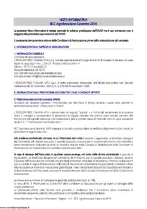 L Assicuratrice Italiana Vita - Bcc Agrobresciano Garantito 2010 - Modello aiv7511 Edizione 30-10-2010 [29P]