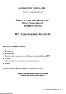 L Assicuratrice Italiana Vita - Bcc Agrobresciano Garantito - Modello aiv7506 Edizione 16-12-2008 [30P]