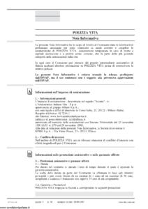 L Assicuratrice Italiana Vita - Polizza Vita Tariffa 4Ad Nf 04 - Modello 7304d-nf Edizione 10-2007 [38P]