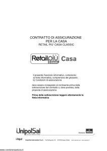La Fondiaria - Retail Piu' Casa Classic - Modello 11538 Edizione 01-2014 [66P]