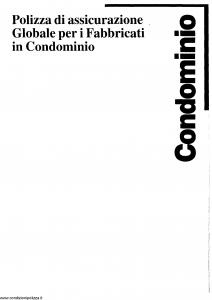 La Previdente - Polizza Di Assicurazione Globale Per I Fabbricati In Condominio - Modello nd Edizione nd [SCAN] [23P]