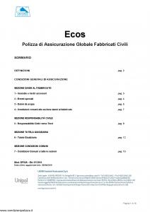 Liguria - Ecos Contratto Assicurazione Globale Fabbricati Civili - Modello gf02a Edizione 07-2015 [16P]