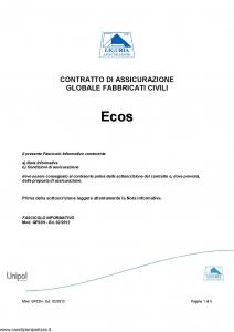 Liguria - Ecos Contratto Assicurazione Globale Fabbricati Civili - Modello gf02n Edizione 02-2012 [5P]