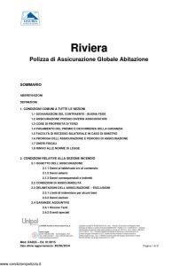 Liguria - Riviera Polizza Di Assicurazione Globale Abitazione - Modello RA02A Edizione 01-2015 [31P]