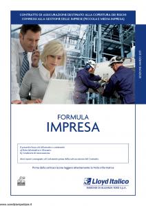 Lloyd Italico - Formula Impresa - Modello s01l-475 Edizione 03-2011 [90P]