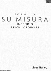 Lloyd Italico - Formula Su Misura Incendio Rischi Ordinari - Modello s01l-445 Edizione 01-2002 [22P]