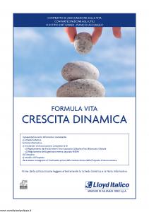 Lloyd Italico - Formula Vita Crescita Dinamica - Modello s11l-117 Edizione 10-2010 [54P]