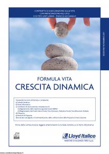 Lloyd Italico - Formula Vita Crescita Dinamica - Modello s11l-117 Edizione 11-2011 [54P]