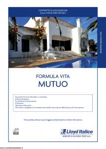 Lloyd Italico - Formula Vita Mutuo - Modello s11l-119 Edizione 05-2012 [28P]