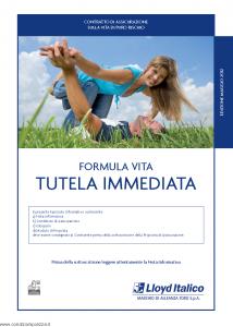 Lloyd Italico - Formula Vita Tutela Immediata - Modello s11l-100 Edizione 05-2012 [24P]