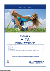 Lloyd Italico - Formula Vita Tutela Immediata - Modello s11l-100 Edizione 09-2009 [20P]