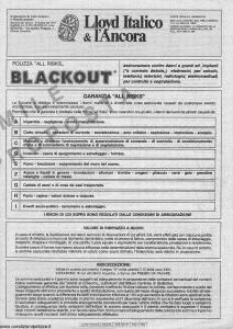 Lloyd Italico - Polizza All Risks Blackout - Modello ain55 Edizione 09-1982 [4P]