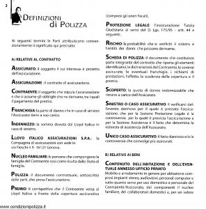 Lloyd Italico - Polizza Casa Vivere E Abitare - Modello s91l-404 Edizione 07-1999 [74P]