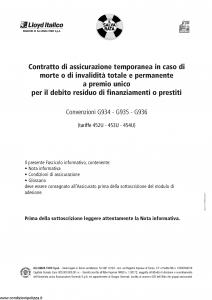 Lloyd Italico - Salvarata Prestiti Personali Convenzioni G934 G935 G936 - Modello f.cpicavita Edizione 05-2013 [19P]