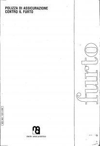 Meie - Polizza Assicurazione Contro Il Furto - Modello 092-1 Edizione 11-1987 [4P]
