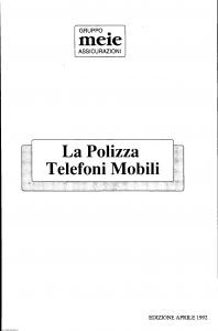 Meie - Polizza Telefoni Mobili - Modello 3-091-15.5 Edizione 04-1992 [SCAN] [8P]