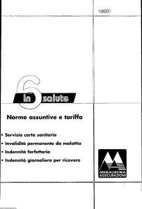 Meie Aurora - 6 In Salute Norme Assuntive E Tariffe - Modello u1602t Edizione 06-2001 [SCAN] [17P]