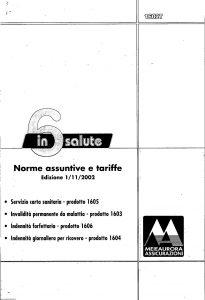 Meie Aurora - 6 In Salute Norme Assuntive E Tariffe - Modello u1602t Edizione 11-2002 [SCAN] [21P]