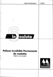 Meie Aurora - 6 In Salute Polizza Invalidita' Permanente Da Malattia - Modello u1603a Edizione 06-2001 [SCAN] [13P]