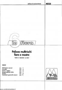 Meie Aurora - 6 In Fiera Multirischi Fiere E Mostre - Modello u4025a Edizione 01-06-2001 [SCAN] [14P]